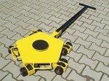 12258868 Wózek rotacyjny z płytą obrotową, rolki: 3x nylon (nośność: 2 T)