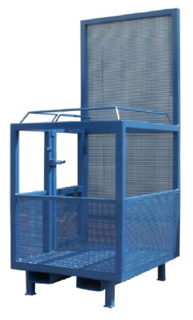 33948642 Kosz na ludzi do wózka widłowego miproFork TWK-P 800 (udźwig: 300 kg, powierzchnia podłogi: 800x1200 mm)