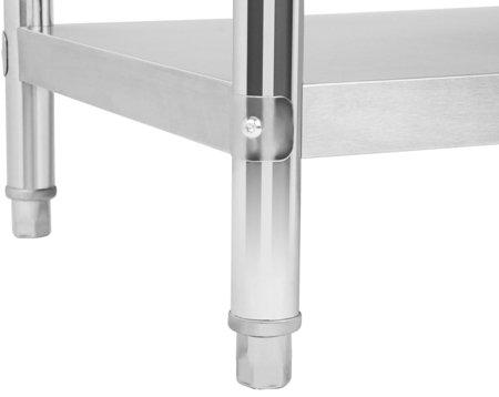 4564346 Stół roboczy ze stali nierdzewnej z kantem Royal Catering (wymiary: 70 x 120 x 96,4 cm)