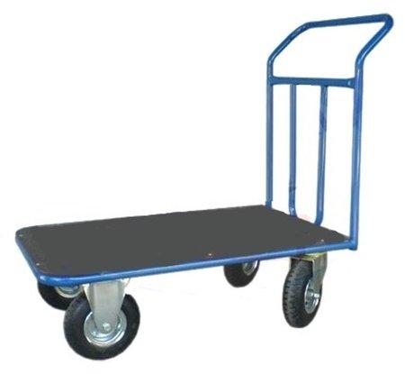 DOSTAWA GRATIS! 13340578 Wózek platformowy ręczny jednoburtowy (koła: pneumatyczne 225 mm, nośność: 250 kg, wymiary: 1200x700 mm)