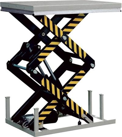 DOSTAWA GRATIS! 310558 Stacjonarny stół podnośny (udźwig: 1000 kg, wymiary platformy: 1300x820mm, wysokość podnoszenia min/max: 305-1780 mm)