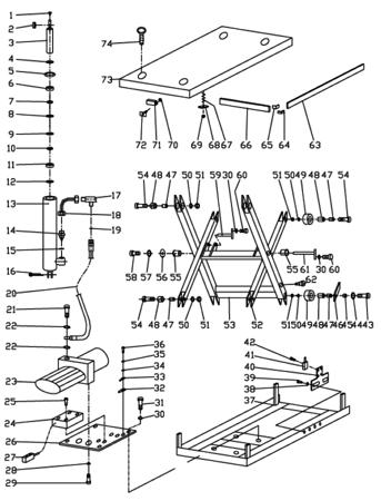DOSTAWA GRATIS! 3109772 Stół podnośny elektryczny (wymiary platformy: 850x2000mm, udźwig: 1000 kg, wysokość podnoszenia min/max: 240-1300 mm)