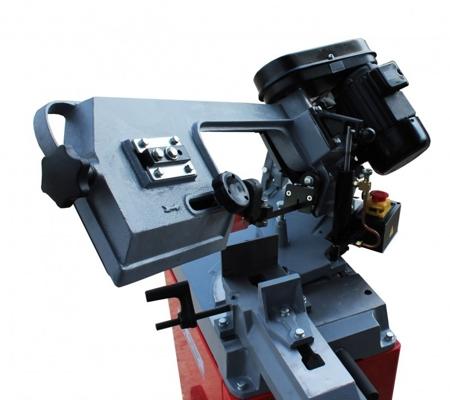 DOSTAWA GRATIS! 44350083 Piła taśmowa do cięcia metalu Holzmann 230V (zakres cięcia: -45° bis +60°, prędkość cięcia: 23/34/54 m/min, moc: 825 W)
