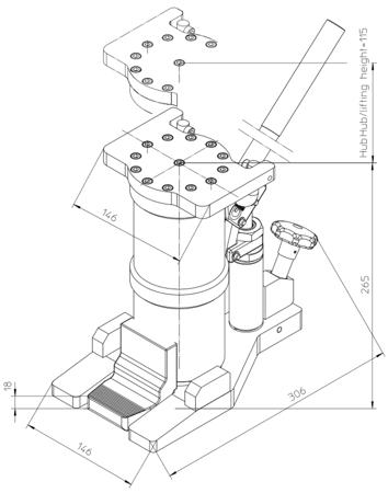 DOSTAWA GRATIS! 49942928 Podnośnik hydrauliczny (nośność: 6T)