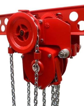 DOSTAWA GRATIS! 9588157 Wciągnik łańcuchowy przejezdny - z atestem ATEX (udźwig: 1,5 T, wysokość podnoszenia: 3m, zakres toru jeznego: 66-106 mm)