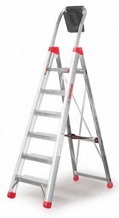 DOSTAWA GRATIS! 99675021 Drabina profesjonalna FARAONE DOMUS 5 stopniowa (wysokość robocza: 2,90m)