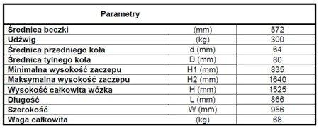 LIFERAIDA Wózek podnośnikowy ręczny do beczek (udźwig: 300 kg) 03015775