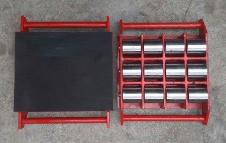 Stalmechon Wózek stały do transportu maszyn, urządzeń i sprzętu (rolki: 9x stal, nośność: 20 ton) 50276383
