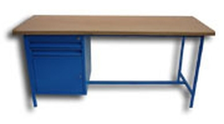 Stół warsztatowy, 1 szafka, 2 szuflady (wymiary: 2000x750x900 mm) 77156851