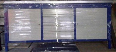 Stół warsztatowy, 2 szafki, 4 szuflady (wymiary: 2000x750x900 mm) 77156984