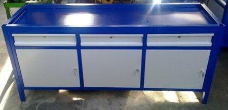 Stół warsztatowy, 3 szafki, 3 szuflady (wymiary: 2000x750x900 mm) 77156986