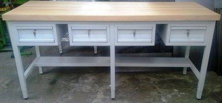 Stół warsztatowy, 4 szuflady (wymiary: 2000x600x900 mm) 77156931