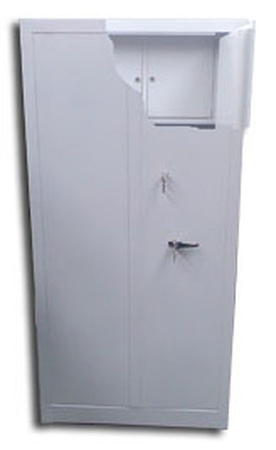 Szafa biurowa wzmocniona, 3 półki, 2 skarbczyki (wymiary: 2000x900x460 mm) 77157056