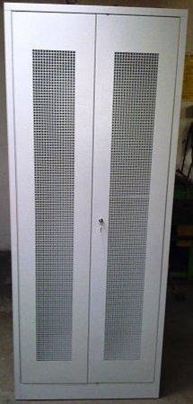 Szafa odzieżowa, 2 drzwi perforowane (wymiary: 2000x1000x500 mm) 77157033