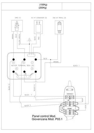 Wciągarka elektryczna linowa budowlana + lina 30m + sterowanie ręczne 1,5m (udźwig: 300kg) 08126409