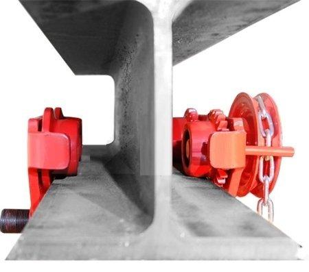 Wózek ręczny jezdny z łańcuszkiem i napędem (udźwig: 2,0 T, szerokość belki jezdnej: 160-300 mm, wysokość łańcucha manewrowego: 3m) 03076125