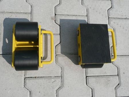 Wózek stały 2 rolkowy, rolki: 2x kompozyt (nośność: 3 T) 12235587
